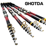 GHOTDA High Carbon Portable Telescopic Fishing Rod Carp Fishing Fishing Tackle