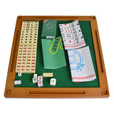 Outdoor Entertainment Majiang Folding Mini Mahjong Set Multifunctional Board Game Set For Travel Family Leisure Time