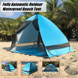 Portable Waterproof Anti-UV Heave Up Tent Outdoor Beach Camping Fishing Hiking Travel Shade Shelter Tent+Tote Bag+Ground Pile#g4