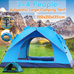 3-4 People Fully Automatic Camping Tent Windproof Waterproof Automatic Pop-up Tent Family Outdoor Instant Setup Tent 4 Season
