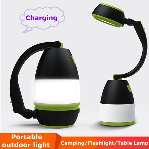 USB Portable LED Camping light Fold  Flashlights Table Lamp Tent/Room/Reading Night Lighting Outdoor Car Charged