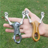 Professional shooting aluminum slingshot camouflage bow does not hurt outdoor game toys and rubber band hunting shot