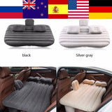 Oversea Car Inflatable Bed Back Seat Mattress Airbed for Rest Sleep Travel Camping  Inflatable Sofa Cushion Car Accessories New