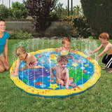 100/150/170cm Summer Children Water Game Play Mat Kids Outdoor Splash Mat For Kids Pool Games Toy Sprinkle Splash Water Toys