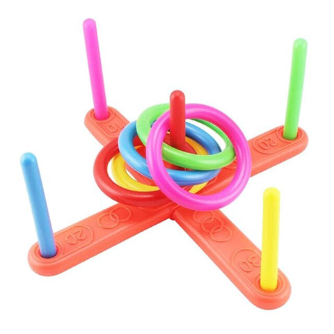 1 Set Of Children'S Plastic Ring Throwing Ring Toy Game Children'S Education Fitness Fun Toys Outdoor Sports Puzzle Fitness Toys