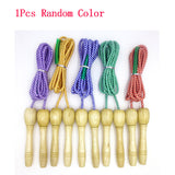 Wooden Handles Skipping Rope Kids Jump Fitness Equipment Outside Outdoor Toys Games For Children Adult Sport Musculation