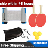Portable Telescopic Table Tennis Net Ping Pong Paddle Set Indoor Outdoor Entertainment Supplies Training Game Kids Adults