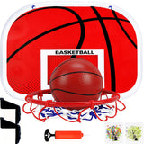 Kids Adults Outdoor Indoor Basketball Backboard Metal Rim Ball Stand Drill-free Wall Mounted Sticky Hook Window Door Sports Game