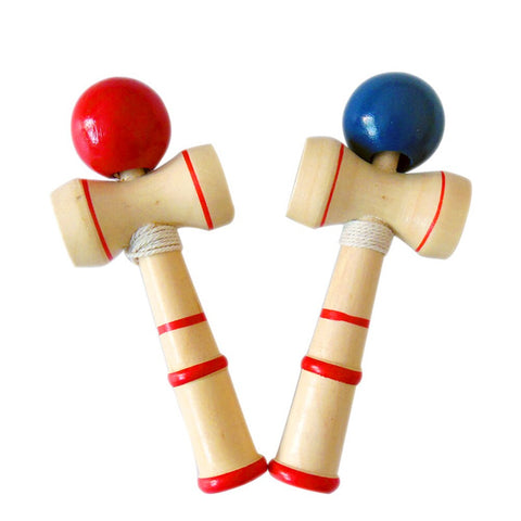 1PCS 12CM Wooden Juggling Ball Toy