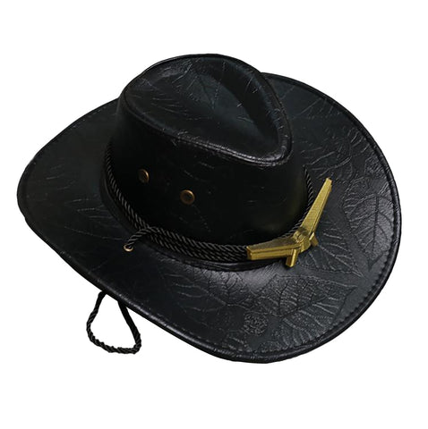 COSTHEME Overwatch Ashe Western Cowboy Hats,Cosplay Costume Accessories Game Anime Props Outdoor Wide Brim with Strap