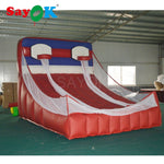 Giant Inflatable PVC Basketball Hoop Court with Double Goal Basket, Inflatable Basketball Game for Kids/Adults
