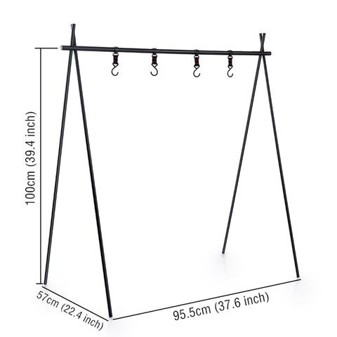 Naturehike Aluminum Alloy Hanging Rack Indian Hanger Multi Tools ChenYi Camping Triangular Rack Portable Camping Equipment