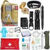 EDC Survival Kit Gear Tool Kit 47 IN 1 Emergency SOS Survival Tools Emergency Blanket Tactical Pen Flashlight Pliers Wire Saw