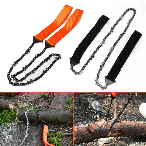 103cm Heavy Duty Pocket Rope Chain Saw Wire Saw for Camp Hike Outdoor Hunt Tool Orange/Black