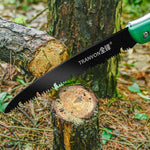 TRANVON Folding Saw with SK5 Blades Pruning Saw for Wood Bone PVC Tree Pruning Camping Hunting Hand Saw