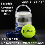 Portable Tennis Trainer 1KG Weight Heavy Iron Base for Adults Kids tenis Serve Training Self-study Rebound Balls Outdoor Indoor