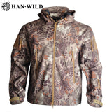 2020 Outdoor Waterproof Soft Shell Jacket Hunting windbreaker ski Coat hiking rain camping fishing tactical Clothing Men&Women