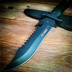 265mm 9CR18MOV Steel Blade Fixed Blade Knife Hunting Outdoor Tactical Survival Pocket Knifes Steel Fruit Knives+ Sheath