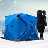 3-4Person Quick Opening Winter Ice Fising Tent 180x180x165cm Thickened Warm Cotton Outdoor Camping Tourist Tent Big Winter House