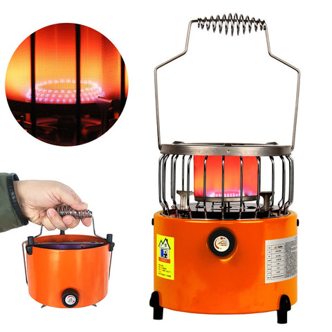 2 In 1 2000W Portable Heater Camping Stove Heating Cooker For Cooking Backpacking Ice Fishing Camping Hiking