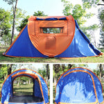 2800G Professional camping tent 4 Season 3-4 Person tents Outdoor 2019 Fiberglass beach outdoor Camping Tent Manual winter tents