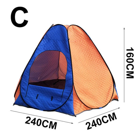 Portable Winter Fishing Tent Ice Shelter Fishing Large Camping Tent Outdoor 3-4 People Ice Fishing Hiking Trekking Tent