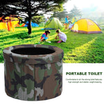 Portable Toilet Camping Commode Folding Travel Camouflage Potty Commode Toilet Seat Ergonomic Design Car Toilet Potty Washable
