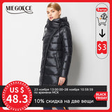 MIEGOFCE 2020 Fashionable Coat Jacket Women's Hooded Warm Parkas Bio Fluff Parka Coat Hight Quality Female New Winter Collection