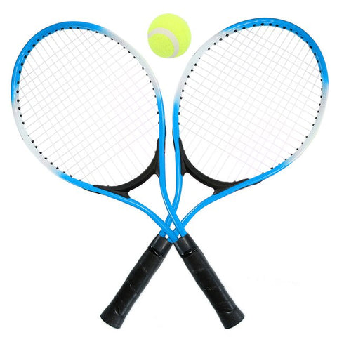 Set of 2 Teenager's Tennis Racket For Tennis Racket Training Carbon Fiber Top Steel Material Tennis String With Free Tennis Ball