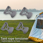 10/20Pcs Camping Awning Tent Guyline Runner Guy Lines Stopper Cord Rope Tightener Tensioner Backpack Equiptment Accessorie