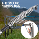 2.1/2.4/2.7m Automatic Fishing Rod Sensitive Telescopic Fishing Pole Rod Sea River Spinning Ring Rod Self-Tapping Fishing Rod