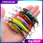 5Pcs Minnow Fishing Lures 9cm 8g Lifelike Wobblers Fishing Lure Set Tool Sharp Hooks Carp Fishing Accessories For Trout and Bass