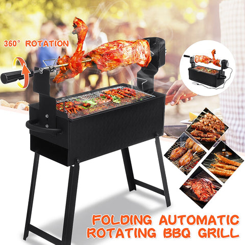 Electric Charcoal BBQ Grill Automatic Rotisserie Motor Spit Roaster Stove Kebab Barbecue Rack Outdoor Camping BBQ Tools 100-240V