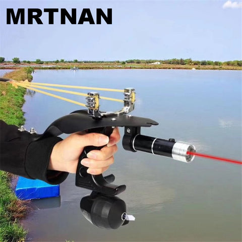 2019 High Quality Laser Slingshot Black Hunting Bow Catapult Fishing Bow Outdoor Powerful Slingshot for Shooting Crossbow Bow