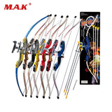 7 Color Send Sucker Recurve Bows with 3pcs Scuker Arrows