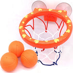 Basketball Hoop Bath Toy on Suckers Set for Child Kid Outdoor Game Development of Boy Interesting Indoor Sport Tool Kit for Baby