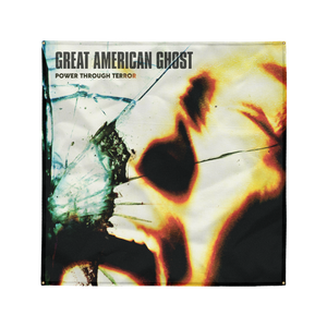"Great American Ghost - ""Power Through Terror"" 4' x 4' Wall Flag"