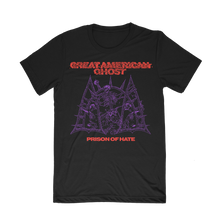 "Load image into Gallery viewer, ""Prison of Hate - Red/Purple Print"" Shirt (Pre-Order)"