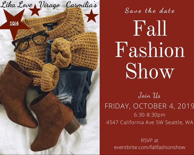 Save The Date! Fall Fashion Show!