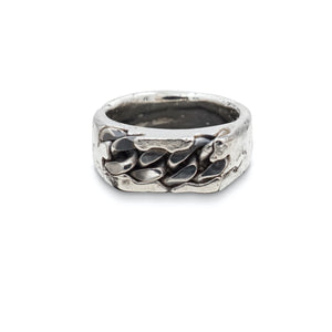 Heavy Metal Chain Signet Ring
