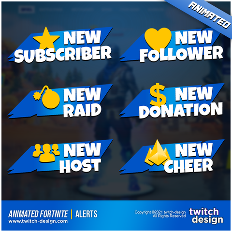 Animated Fortnite Twitch Alerts