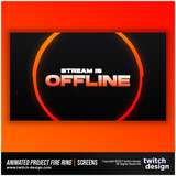 Animated Project Fire Ring Twitch Offline Screen