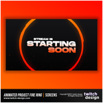 Animated Project Fire Ring Twitch Starting Soon Screen