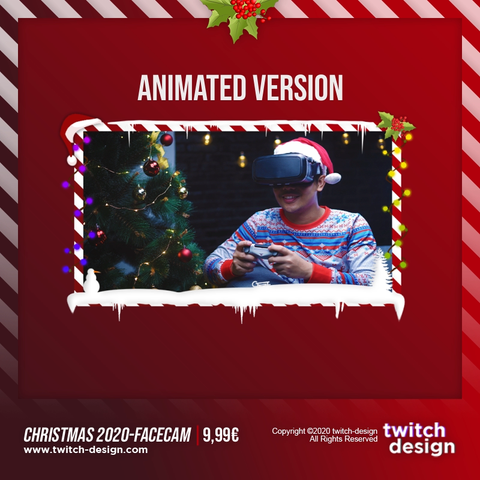 Animated Christmas 2020 Twitch Facecam