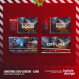 Animated Christmas Twitch Screens