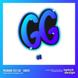 "Twitch Sub Emote ""GG"" 2"
