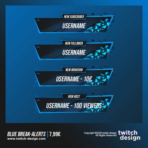 Blue Break Twitch Alerts.