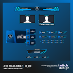 Blue Break Twitch Stream Design Bundle