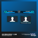 Blue Break Twitch Stream Design Overlay