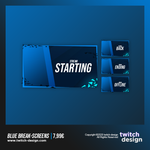 Blue Break Twitch Stream Design Screens